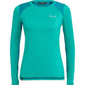 SALEWA Pedroc Hybrid Dry T-shirt à manches longues Femme, lagoon green melange